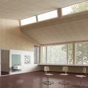Innenansicht des geplanten Schulhauses im Schulzentrum Oberhofen.