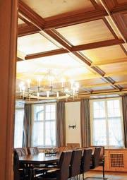 Kunstschaffende haben bereits Interesse für die Räume angemeldet. Hier das Sitzungszimmer des Gemeinderats. (Bild: Michael Hug)