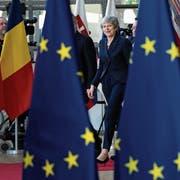 Die britische Premierministerin Theresa May am Donnerstag bei ihrer Ankunft in Brüssel. Bild: Sean Gallup/Getty