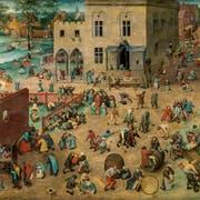 Pieter Bruegel der Ältere: «Die Kinderspiele», Öl auf Holz, um 1560 entstanden, heute im Kunsthistorischen Museum Wien. (Bild: Belser-Verlag)