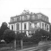 Die Villa Wiesental um 1910. Man beachte vor allem den schönen, grossen Garten. (Bild: Stadtarchiv der Ortsbürgergemeinde St.Gallen)