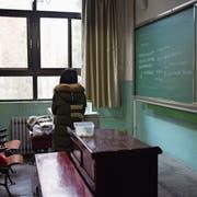 Ein Klassenzimmer an der Beihang-Universität in Peking. Studentinnen werfen einem Hochschullehrer dieser Schule sexuelle Belästigung vor. Bild: Wang Zhao/AFP (17. Januar 2018)
