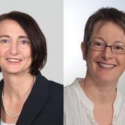 Eva Dal Dosso-Bartmann und Brigitta Engeli-Sager kandidieren für die Sekundarschulbehörde. (Bilder: PD)