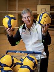 Volleyball ist für René Langenegger eine Herzenssache, obwohl er früher Einzelsportler war. (Bild: Ralph Ribi)
