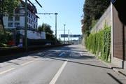 Der Auffahrunfall vom Montag, zu dem die Stadtpolizei jetzt Zeugen sucht, ereignete sich am Ende der Rosenbergstrasse, wo die Ausfahrt des Schorentunnels Richtung Westen ins städtische Strassennetz mündet. (Bild: Stadtpolizei St.Gallen - 24. September 2018)
