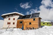 Das Tiny House der Familie Vins. Bild: Ester Unterfinger/Swissinfo.ch (Februar 2019)