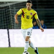 James Rodriguez ist der Star Kolumbiens. (Bild: Antonio Calanni/Keystone)