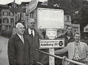 Das Ortsschild beim Eingang des Städtlis bezeugt die seit zwanzig Jahren bestehende Partnerschaft. (Bild: PD)