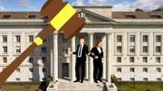 34 Jahre nach der Hochzeit folgte im November 2016 die Scheidung – der Streit um die Unterhaltszahlung führte nun bis vors Bundesgericht. (Bild: Fotos: Keystone/Pixabay; Montage: edi)