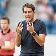 René Weiler verfügt in Luzern über einen Vertrag bis 2021. (Bild: Urs Lindt/Freshfocus (Luzern, 12. August 2018)