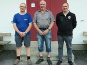 Das Siegerpodest des Cupfinals: Jürg A. Davatz, Heini Rhyner und Vinzenz Gangl (von rechts). (Bild: PD)