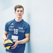Volley Luzerns Aussenangreifer Stig Döös Traagstad. Bild: Boris Bürgisser (Luzern, 3. April 2019)