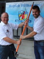Die Nachfolge ist glücklich geregelt. Daniel Hartmann (rechts) übernimmt das Präsidium von Martin Frei. (Bild: Patricia Wichser)