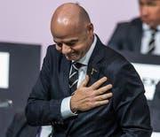 Gianni Infantino nach seiner Wiederwahl als Fifa-Präsident im vergangenen Juni. (Bild: EPA/CHRISTOPHE PETIT TESSON)