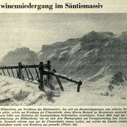 1965 wurden Alphütten der Sennensiedlung Siebenhütten verschüttet, wie es in diesem «Tagblatt»-Artikel vom 1. Mai 1965 heisst. (Bild: Tagblatt-Archiv)