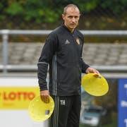 Hier als Assistent beim FC Basel: Der mögliche neue FCL-Trainer Thomas Häberli. (Bild: Andy Müller/Freshfocus (Basel, 27. Juni 2018))