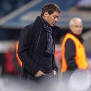 Seine Zeit beim FCL ist bereits abgelaufen: Trainer René Weiler. Bild: Urs Flüeler/Keystone (Luzern, 13. Februar 2019)
