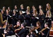 Der Akademiechor Luzern und die Junge Philharmonie Zentralschweiz konzertierten im Maihof. (Bild: Peter Fischli/LF (Luzern, 8. April 2019)