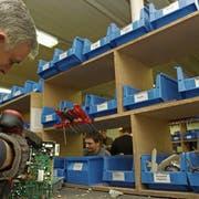 Ein früherer Business-House-Arbeitsplatz in Rorschach: Recycling von Elektronik. (Archivbild: Hannes Thalmann)
