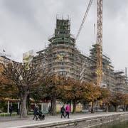 Das Hotel Palace wird derzeit umgebaut. (Bild: Pius Amrein, Luzern, 21. Oktober 2019)