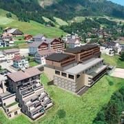 So soll die Mountain Lodge in Sörenberg einst aussehen. (Bild:PD)
