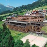 So soll die Mountain Lodge in Sörenberg dereinst aussehen. Visualisierung: PD