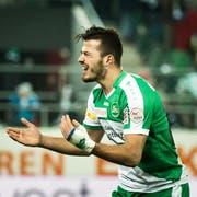 Albian Ajeti im Dress des FC St.Gallen, für den er in kurzer Zeit 14 Tore erzielte. (Bild: Michel Canonica / Tagblatt)