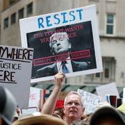 Kundgebung gegen Präsident Donald Trump – dank ihm gewinnen die Sozialisten an Zulauf. (Bild: Kamil Krzaczynski/Epa (Chicago, 30. Juni 2018))