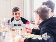 Am bereits bestehenden Mittagstisch im Schulhaus Bürgli. (Bild: Stadt St.Gallen/PD)