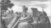 Die Burg «Neu-Griesenberg». Der Stammsitz von Heinrich IV und seiner Familie. (Bild: PD/Bibliothèque publique et universitaire, Neuenburg=