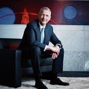 UBS-Schweiz-Chef Axel Lehmann in der Geschäftsstelle der Grossbank in Zug. (Bild: Stefan Kaiser, 14. März 2019)