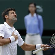 Siegerjubel: Novak Djokovic. (Bild: Ben Curtis/AP (London, 14. Juli 2019))