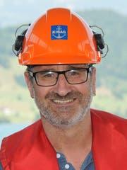 Urs Amstad, Bauführer bei Kibag Bauleistungen AG. (Bild: Matthias Piazza (Buochs, 12. Juli 2018))