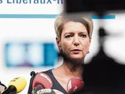 Karin Keller-Sutter gab vergangene Woche an einer Medienkonferenz ihre Kandidatur für den Bundesrat bekannt. (Bild: Thomas Hary)