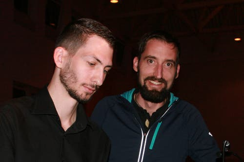 Gion Piromino (links) und Martin Lanfranchi. (Bild: Sepp Odermatt (Hergiswil, 10. November 2018))