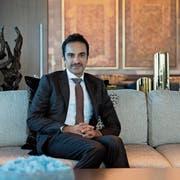 Scheich Nawaf bin Jassim bin Jabor Al-Thani in der Präsidentensuite auf dem Bürgenstock. (Bild: Corinne Glanzmann)