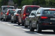 Viel Verkehr gibt es immer wieder zwischen Engelberg und Stans, wenn sich die Touristen auf dem Rückweg befinden. (Bild: Dominik Wunderli)