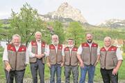 Die Wetterpropheten (von links): Martin Horat, Peter Suter, Martin Holdener, Karl Hediger, Roman Ulrich und Alois Holdener. (Bild: Erhard Gick)