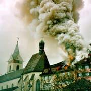 Der Fall, der nicht eintreten darf: Die Altstadt brennt. (Bild: PD)