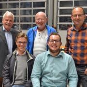Der Keflam-Vorstand: Fritz Rutz, Thomas Renz, Ivo Scherrer (hinten von links), Ruben Schuler und Christian Vogel (vorne von links). (Bild: Peter Jenni)