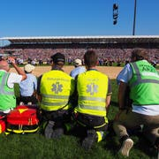 Die mobilen Equipen in der Arena, bereit für den Ernstfall. (Bild: PD)