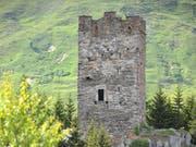 Soll bald bis zum Dach begehbar sein: Der Turm von Hospental. (Bild: Urs Hanhart, 5. Juni 2018)