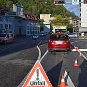 Ein Bild von der Unfallstelle. (Bild: Luzerner Polizei, Luzern, 7. Oktober 2019)