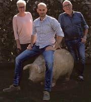 Die Initianten für den neuen Dorfladen: Yvonne Baer, Geschäftsführer Georg Felber und Hanspeter Baer. (Bild: PR)