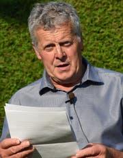 Gemeindepräsident Albert Amgarten.