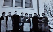 Das erste Bild der Bäuerinnen aus dem Jahr 1945 – Namen sind leider keine bekannt.