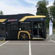So sieht der Elektrobus aus, der in den nächsten Tagen in Luzern und Zug getestet wird (Bild: PD)