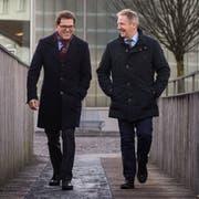 Regierungsrat Jakob Stark (links) und sein Parteikollege, Nationalrat Markus Hausammann, wollen beide in den Ständerat. (Bild: Reto Martin)