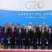 Die Staats- und Regierungschefs der 20 wichtigsten Industrienationen beim Gipfel in Buenos Aires. Bild: Michael Klimentyev/EPA (30. November 2018)