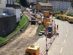 Wie viel in welch kurzer Zeit auf dieser Baustelle erledigt wurde, zeigen die Bilder vom 21. April...